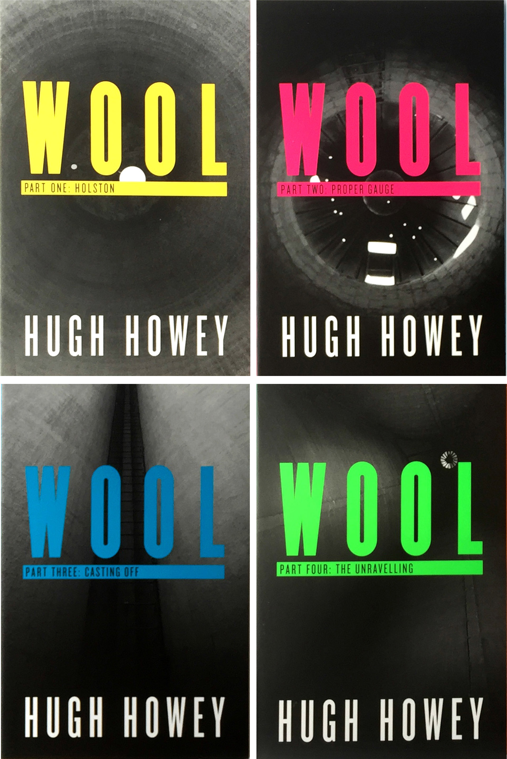Hugh Howey's Wool series proof covers designed by Irish Butcher