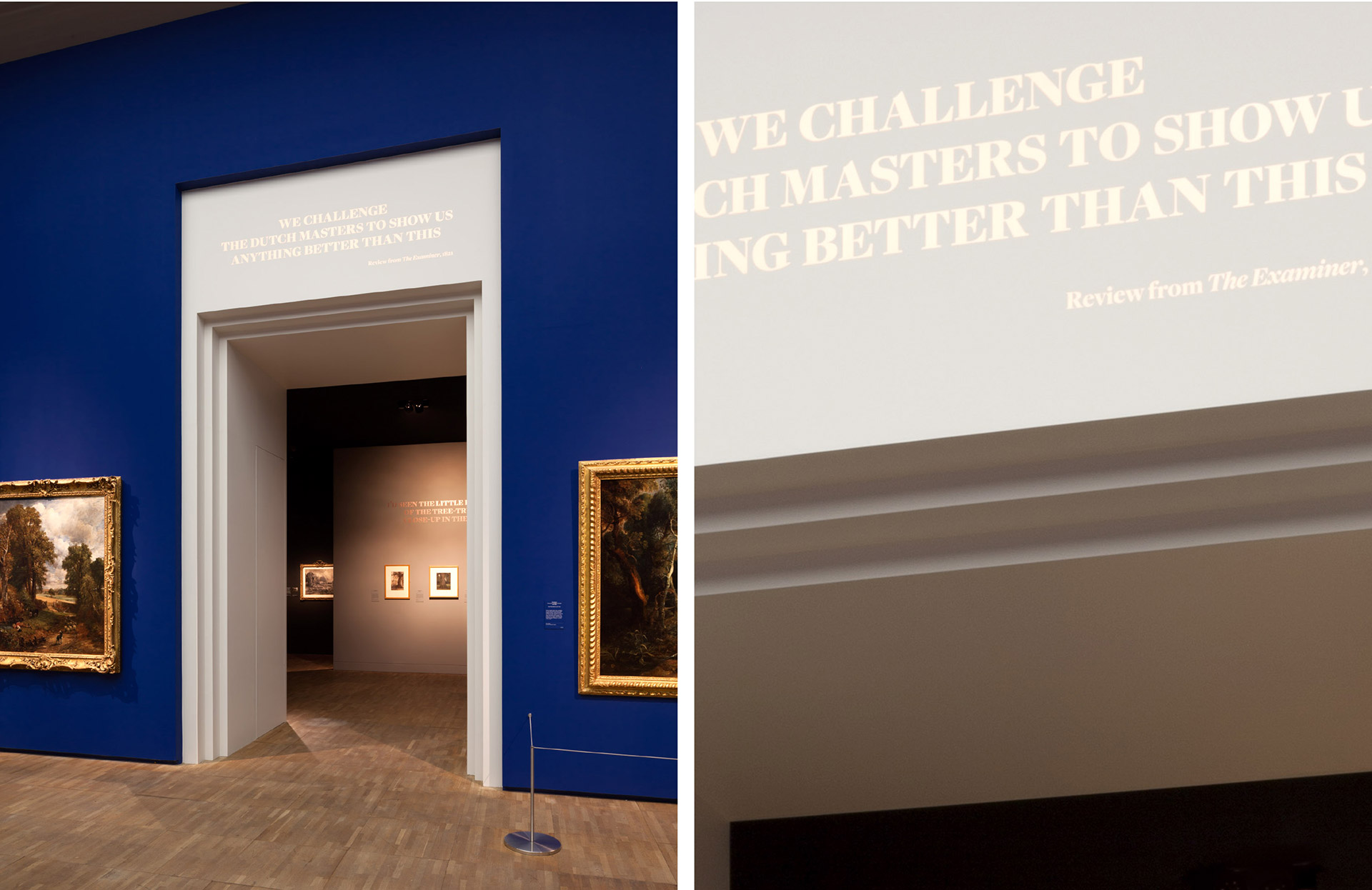 Constable: The Making of a Master at V&A South Kensington designed by Irish Butcher