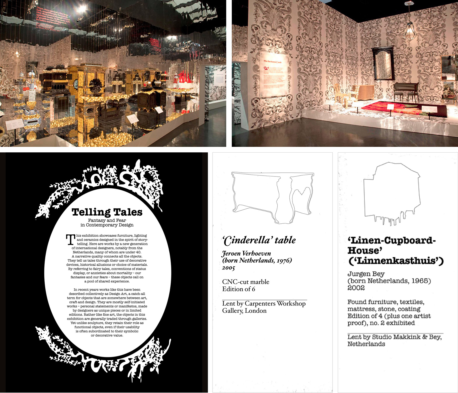 Telling Tales: Fantasy and Fear in Contemporary Design at V&A South Kensington designed by Irish Butcher
