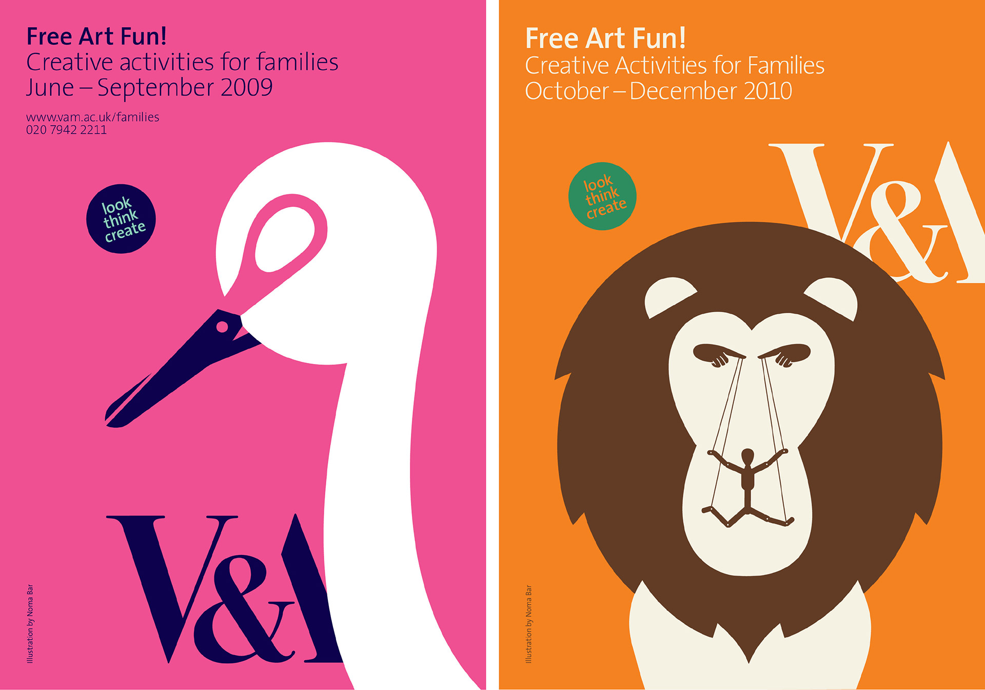 Learning and Interpretation campaign identity for V&A South Kensington designed by Irish Butcher