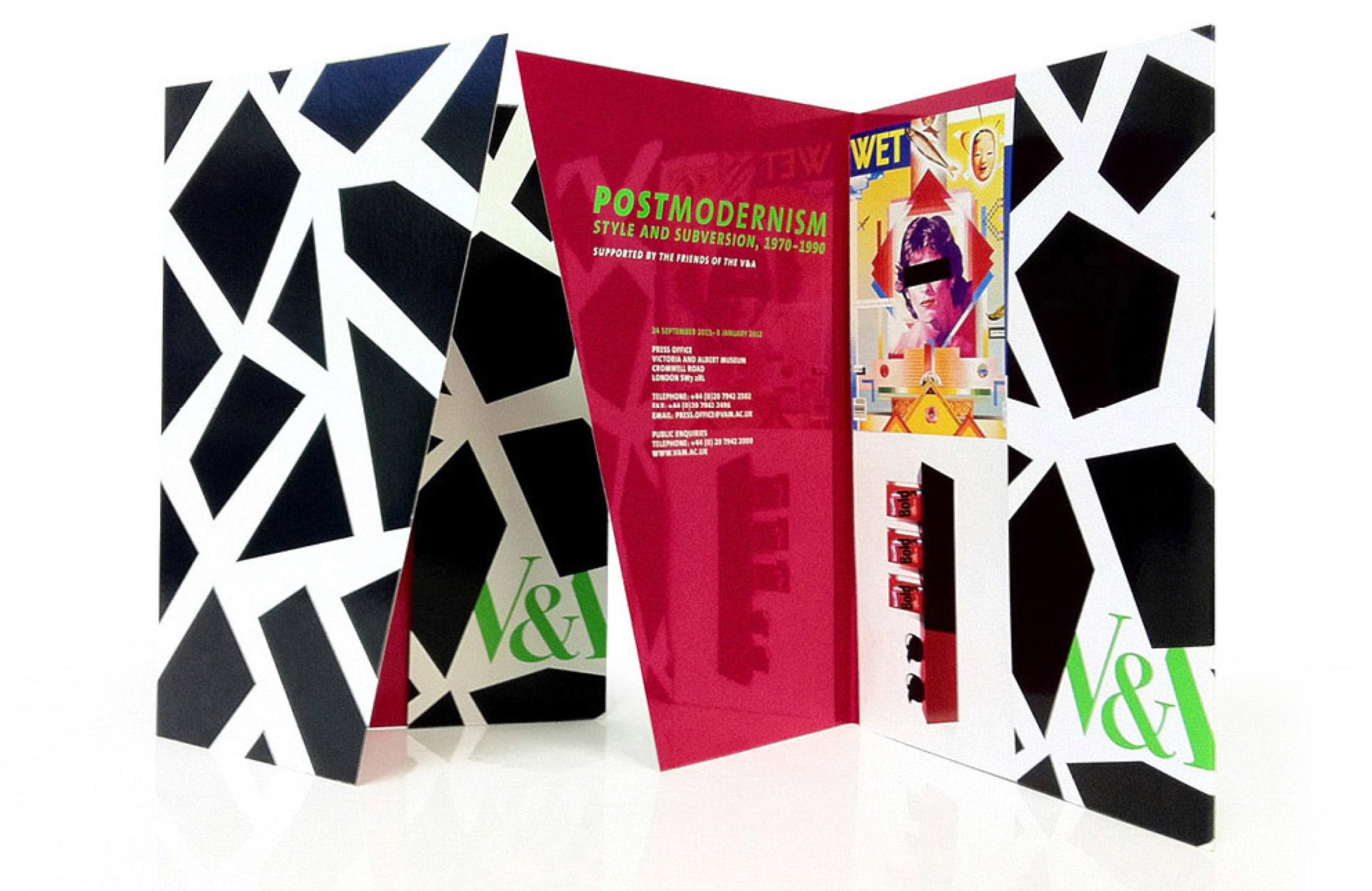 Postmodernism press campaign for V&A South Kensington designed by Irish Butcher