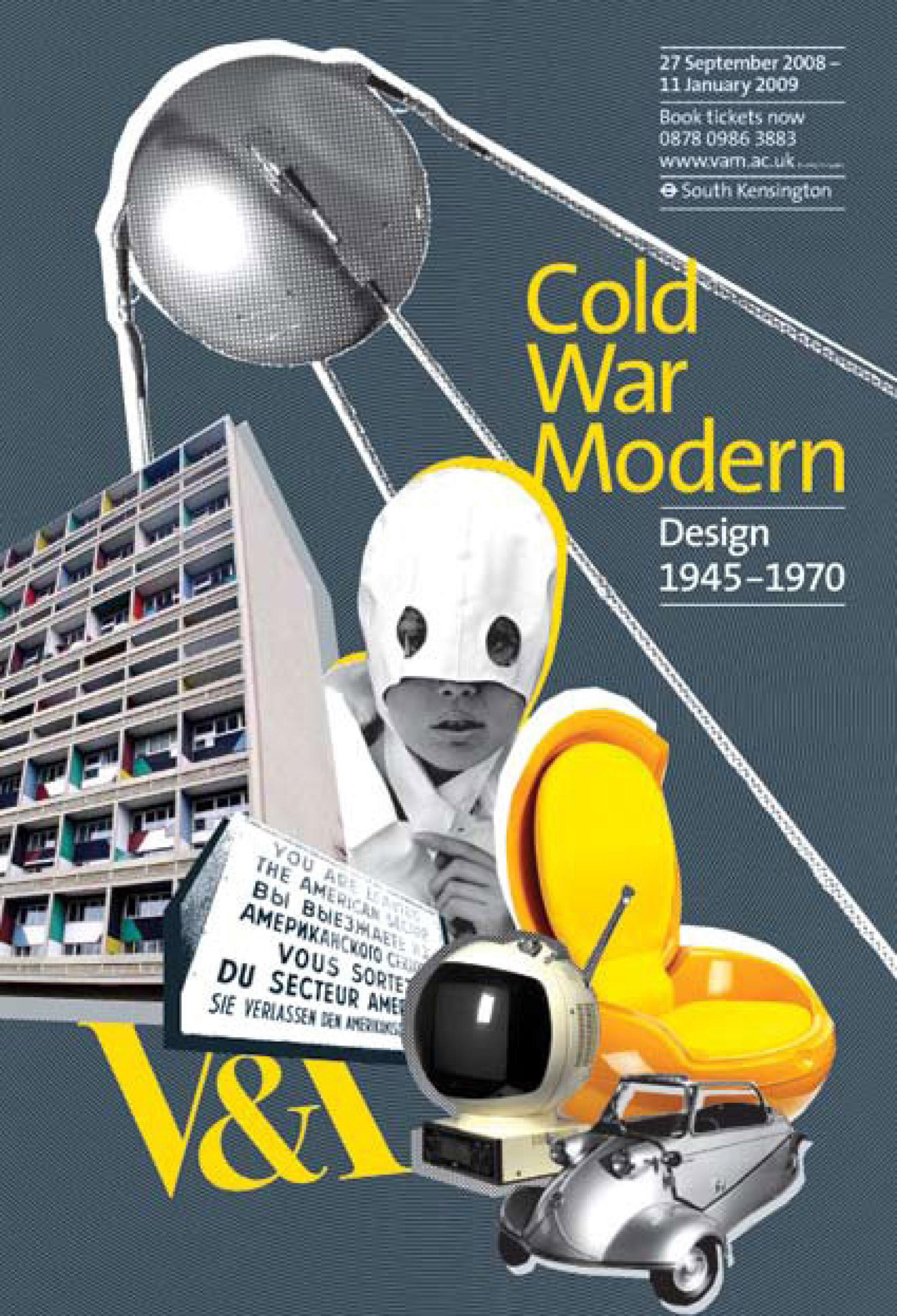 Cold War Modern marketing campaign for V&A South Kensington designed by Irish Butcher