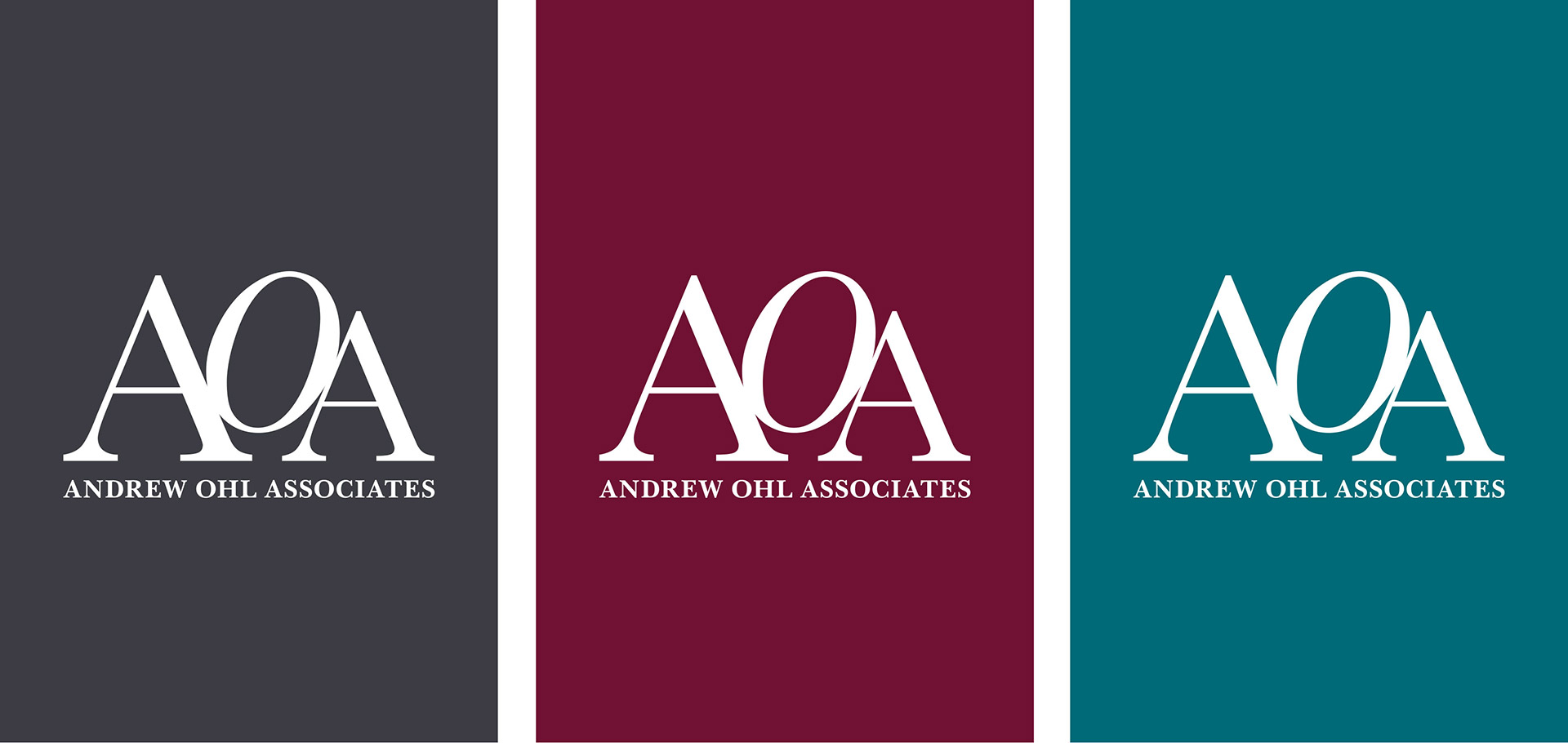 Andrew Ohl Associates visual identity by Irish Butcher