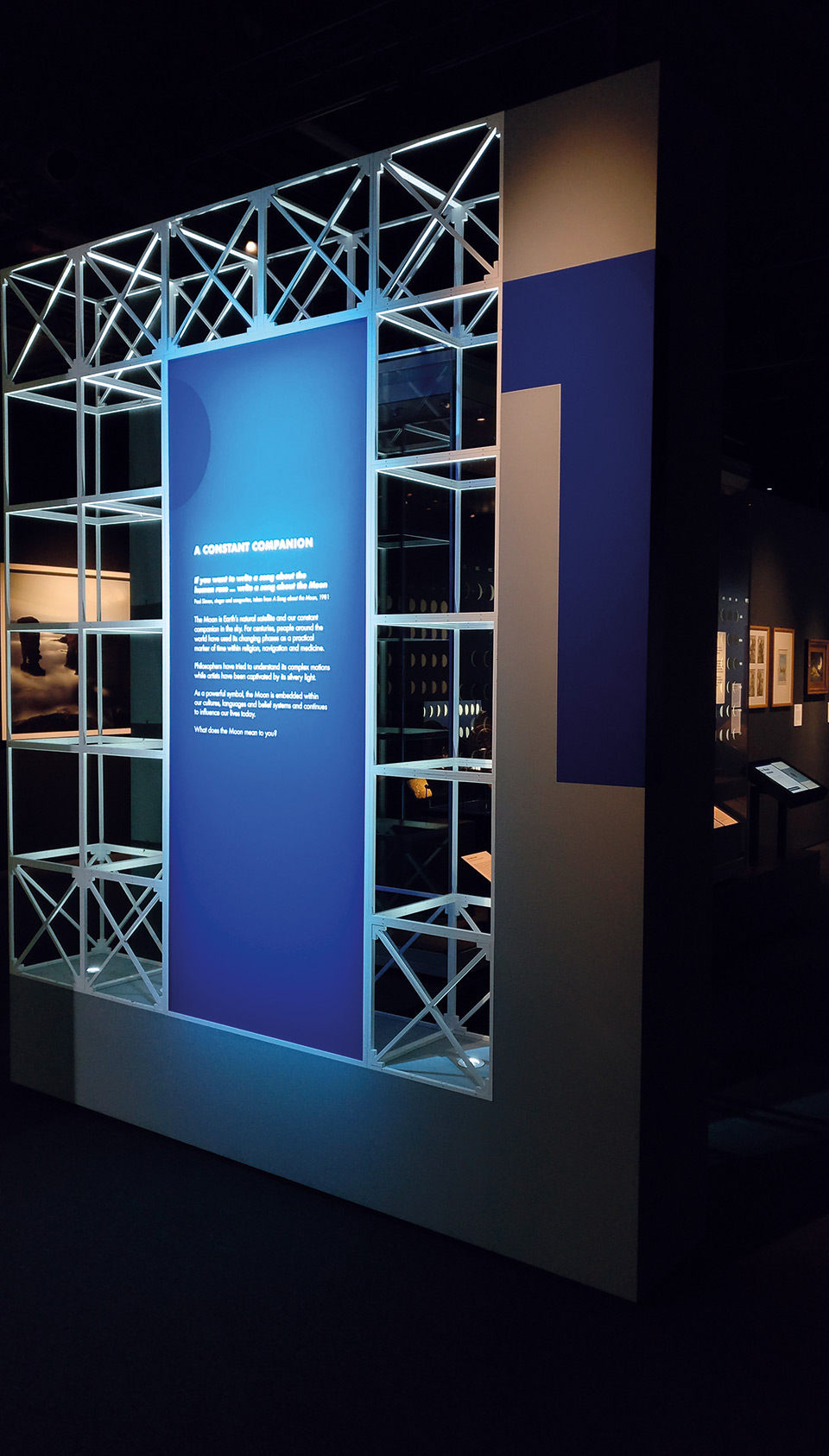 The Moon at the National Maritime Museum - 2D exhibition design by Irish Butcher