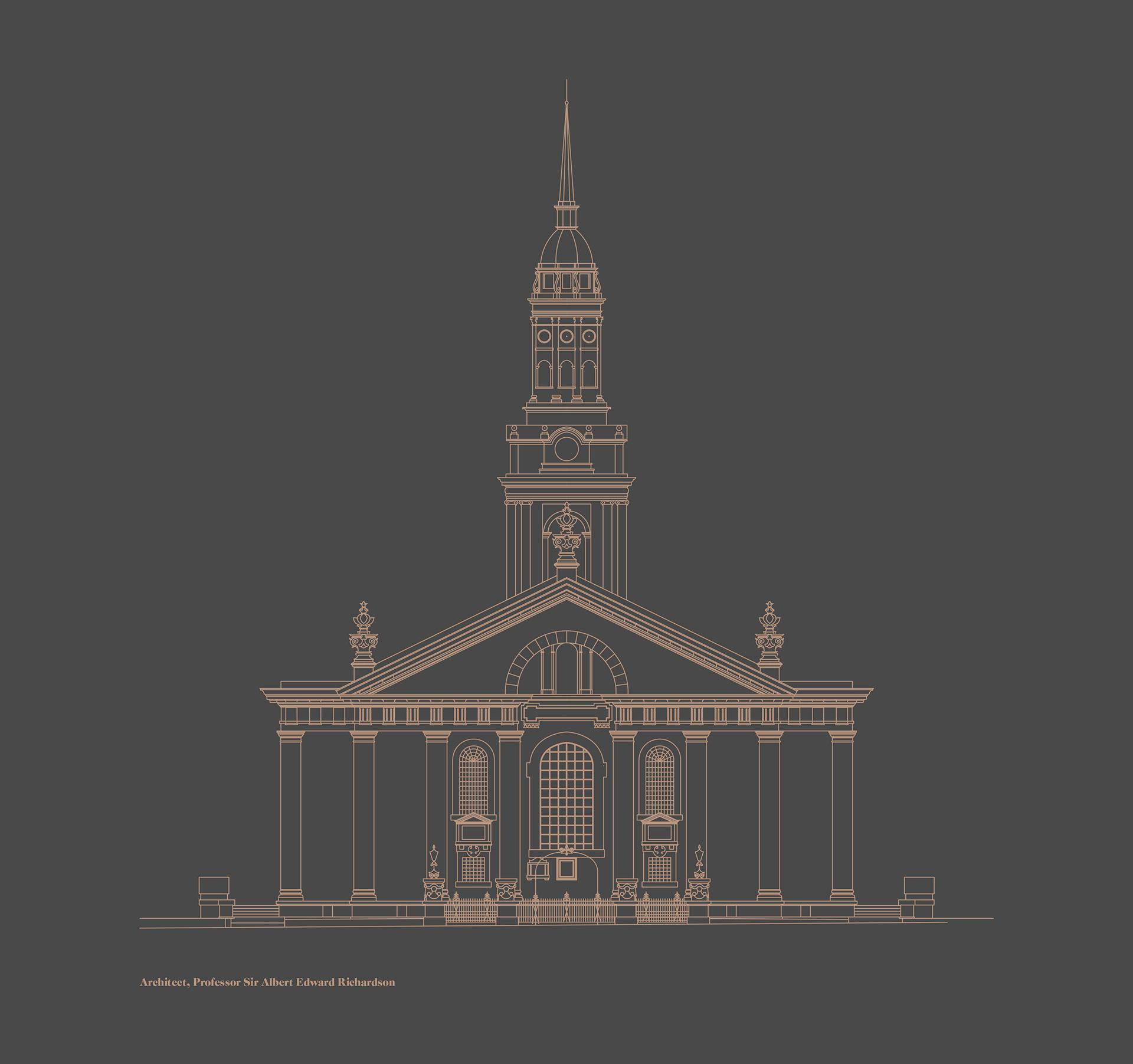St Alfege Church - 2D exhibition design by Irish Butcher